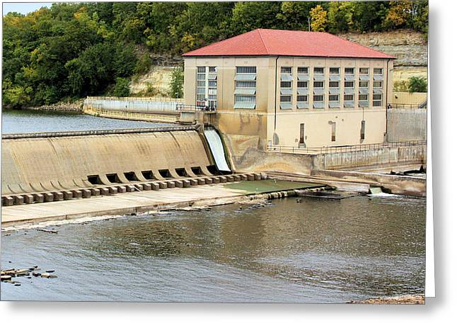 Hydroelectric Greeting Cards - Mississippi Hydroelectric Dam Greeting Card by Kristin Elmquist