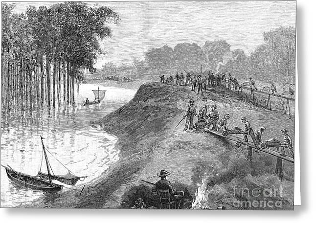 Chain Gang Greeting Cards - Mississippi River, 1884 Greeting Card by Granger