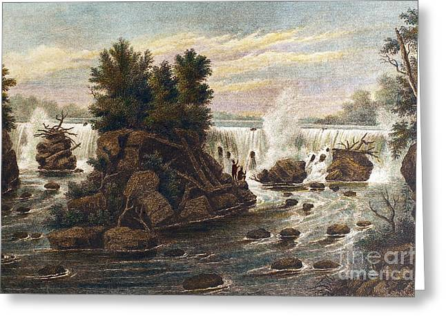 Hennepin Greeting Cards - Mississippi River: Falls Greeting Card by Granger