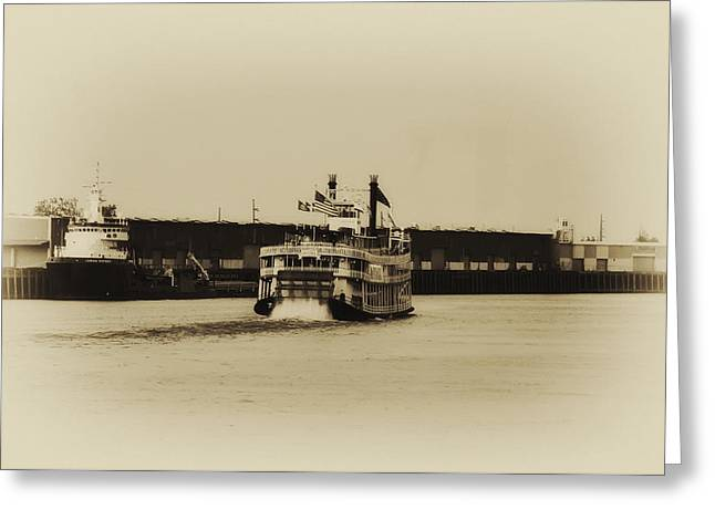 Steamboat Greeting Cards - Mississippi Riverboat - Natchez Greeting Card by Bill Cannon