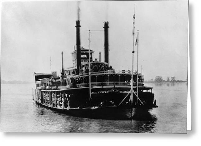 Uncle Tom Greeting Cards - Mississippi Steamboat, 1926 Greeting Card by Granger
