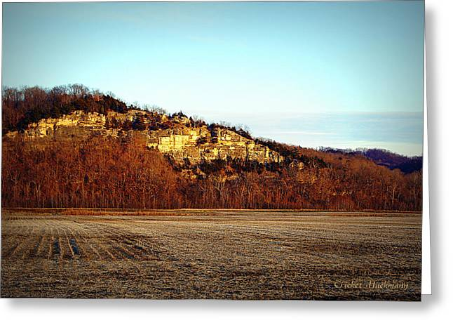 Southern Boone County Greeting Cards - Missouri Limestone Bluffs Greeting Card by Cricket Hackmann