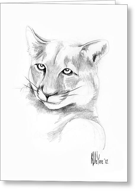 Missouri Mountain Lion  Greeting Card by Kip DeVore