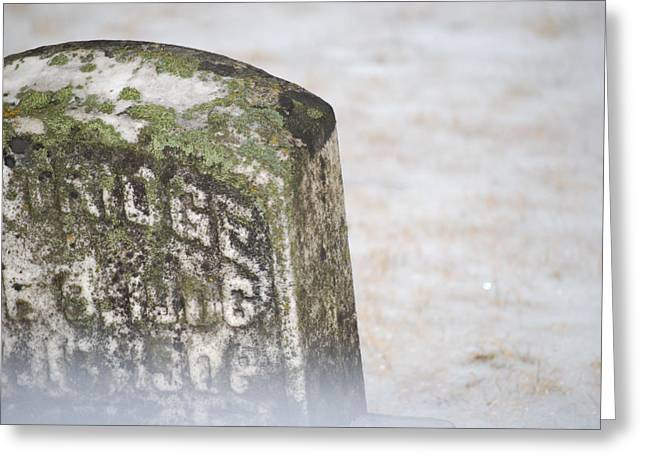 Headstones Greeting Cards - Mist from the Ground Greeting Card by Peter  McIntosh