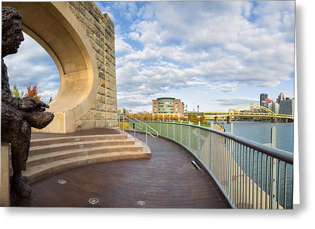 Sewickley .baseball Greeting Cards - Mister Rogers statue Greeting Card by Emmanuel Panagiotakis