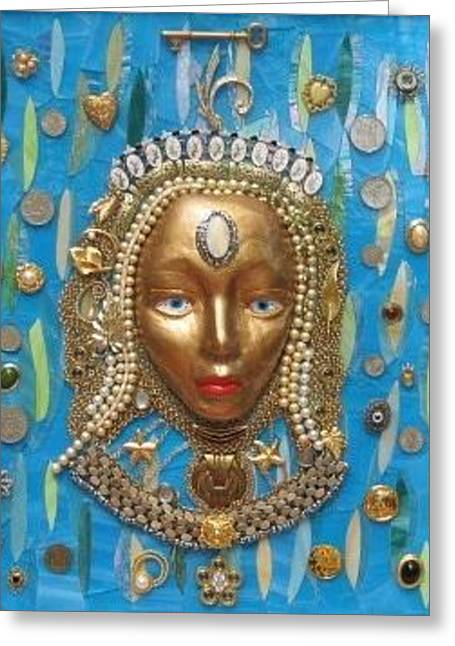 Treasures Glass Art Greeting Cards - Mistress of the Caribbean Greeting Card by Charles McDonell