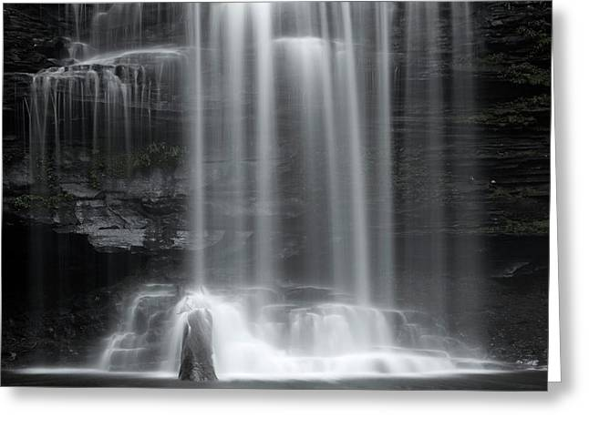 White River Scene Greeting Cards - Misty Canyon Waterfall Greeting Card by John Stephens