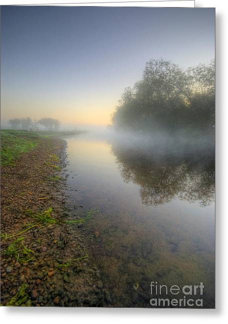 Cold Morning Sun Greeting Cards - Misty Dawn 6.0 Greeting Card by Yhun Suarez