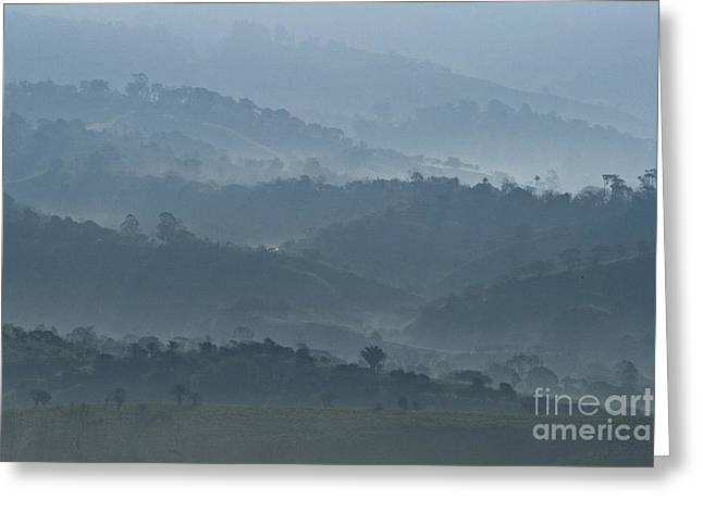 Cultivation Greeting Cards - Misty Hills of Chiriqui Greeting Card by Heiko Koehrer-Wagner