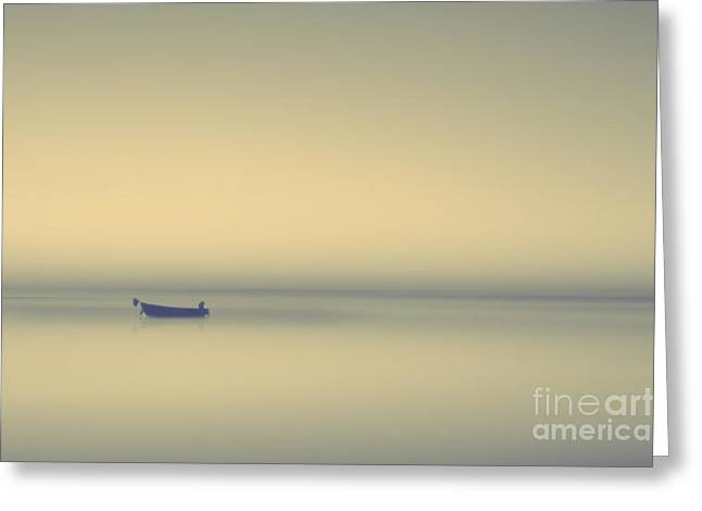 Photoshop Cs5 Greeting Cards - Misty lake Greeting Card by Lee-Anne Rafferty-Evans