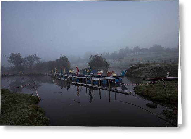 Tough Guys Greeting Cards - Misty Landscape Greeting Card by Dawn OConnor