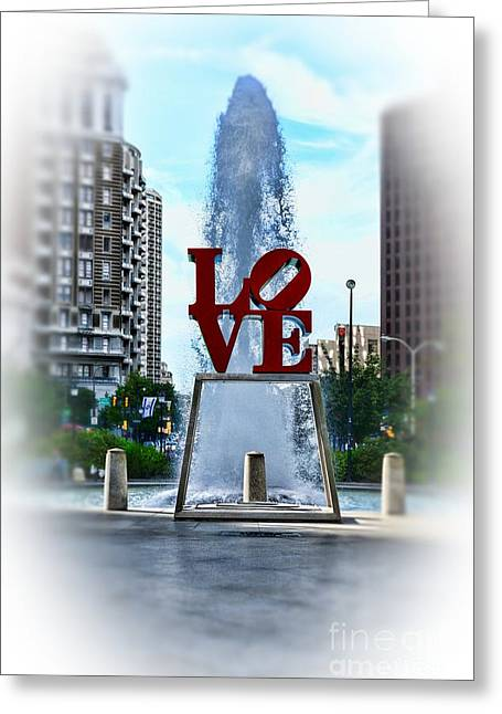 John F. Kennedy Plaza Greeting Cards - Misty Love Greeting Card by Paul Ward