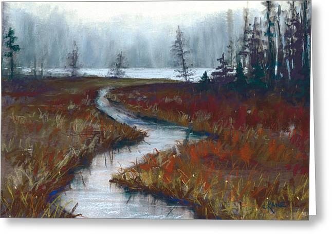 Misty. Greeting Cards - Misty Maine Greeting Card by Christine Camp
