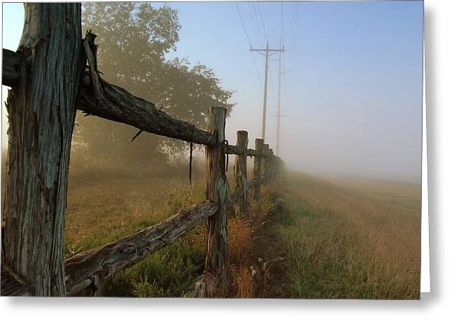 Misty Morning Greeting Card by Cindy Rubin