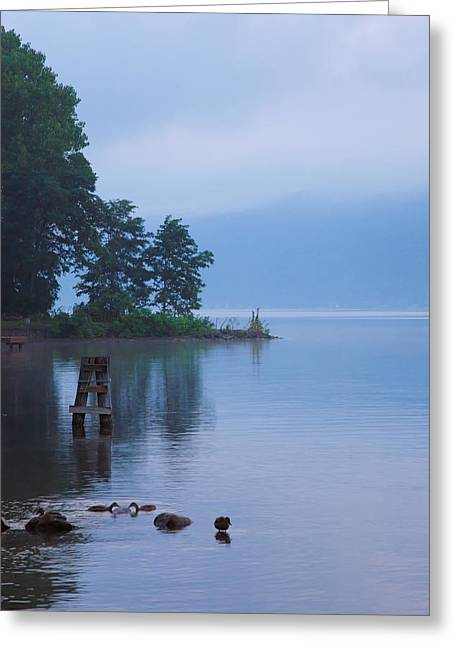 Finger Lakes Greeting Cards - Misty Morning II Greeting Card by Steven Ainsworth