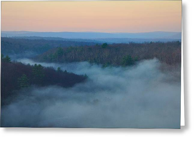 Misty Mountain Hop Greeting Card by Bill Cannon