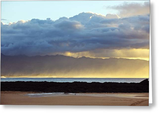 Vince Greeting Cards - Misty Ocean Horizon Greeting Card by Vince Cavataio - Printscapes