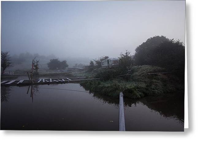 Tough Guys Greeting Cards - Misty Reflections Greeting Card by Dawn OConnor