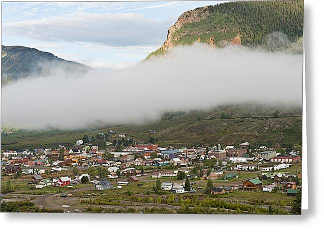 Best Seller Greeting Cards - Misty Silverton Colorado Greeting Card by Melany Sarafis