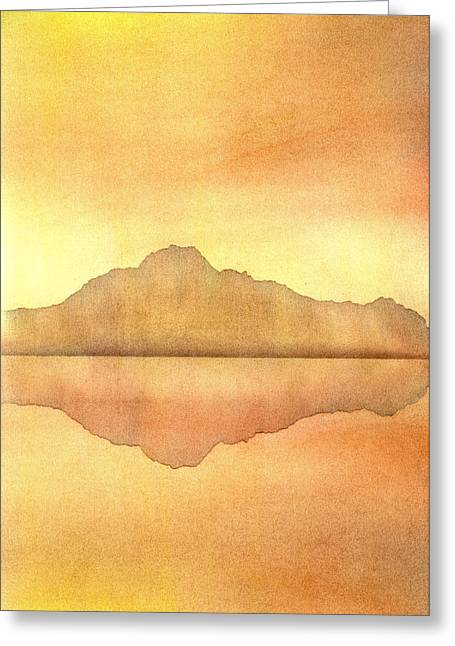 Norwegian Sunset Greeting Cards - Misty Sunset Greeting Card by Hakon Soreide
