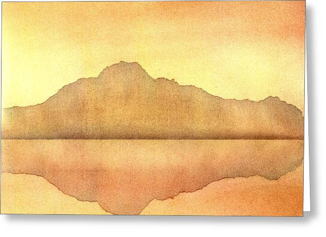 Misty Sunset Greeting Card by Hakon Soreide