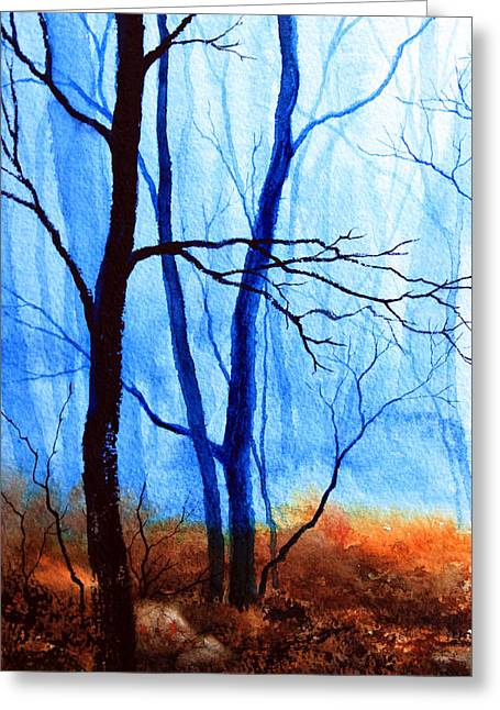 Wood. Commissions Greeting Cards - Misty Woods - 1 Greeting Card by Hanne Lore Koehler