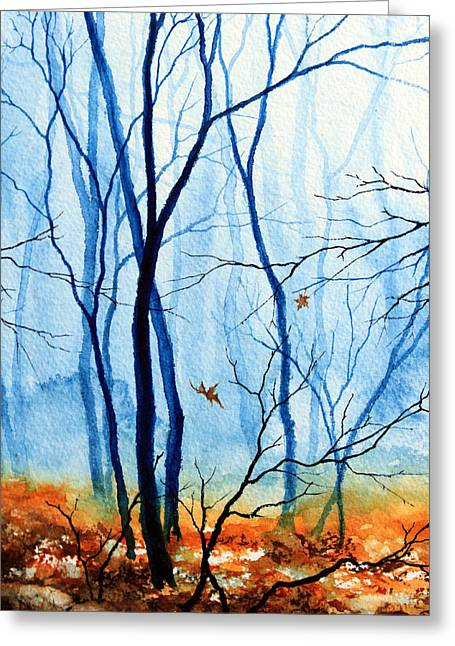 Wood. Commissions Greeting Cards - Misty Woods - 2 Greeting Card by Hanne Lore Koehler