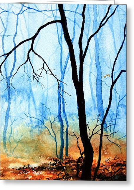Wood. Commissions Greeting Cards - Misty Woods - 3 Greeting Card by Hanne Lore Koehler