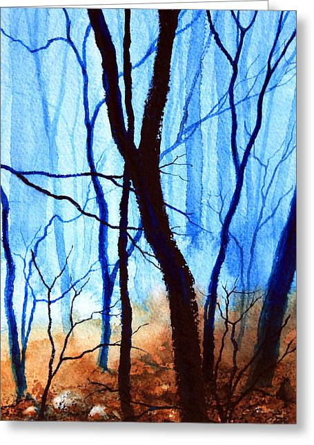 Wood. Commissions Greeting Cards - Misty Woods - 4 Greeting Card by Hanne Lore Koehler