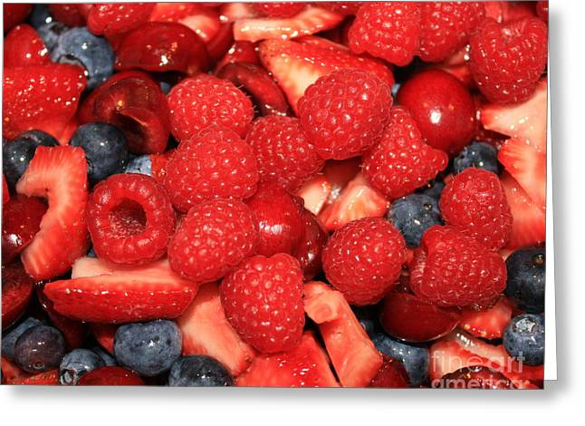 Strawberry Art Greeting Cards - Mixed Berries Greeting Card by Carol Groenen