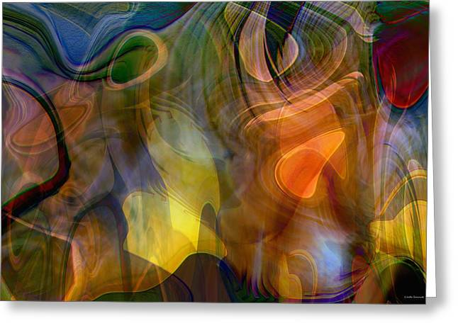 Energy Art Movement Greeting Cards - Mixed emotions Greeting Card by Linda Sannuti