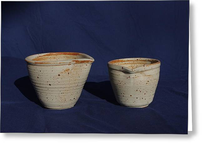 Ceramic Bowl Ceramics Greeting Cards - Mixing Bowls Greeting Card by Rick Ahlvers