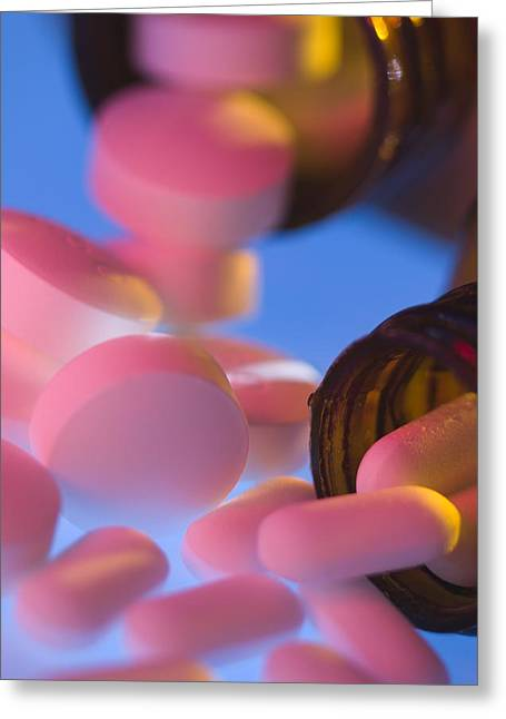 Pill Greeting Cards - Mixing Pills Greeting Card by Steve Horrell
