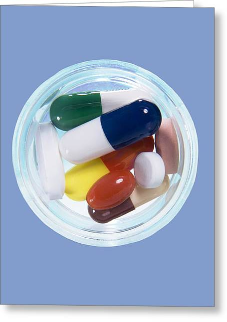Medication Greeting Cards - Mixture Of Drug Pills Greeting Card by Sheila Terry