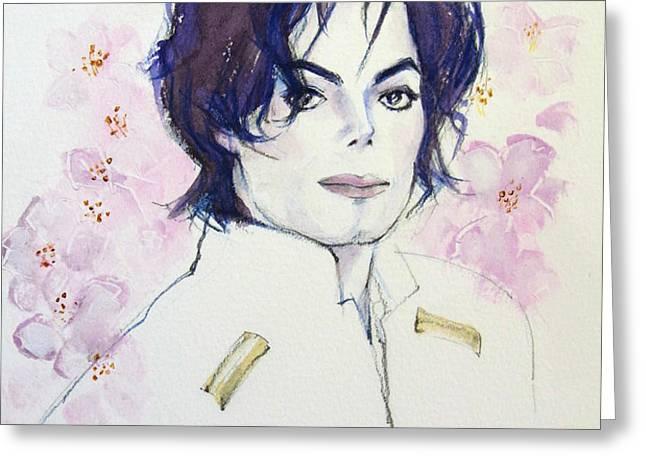 MJ in Sakura Greeting Card by Hitomi Osanai