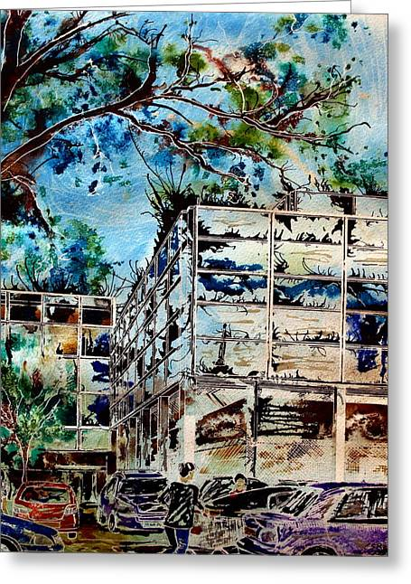 Milton Keynes Greeting Cards - MK- The final piece Greeting Card by Cathy S R Read
