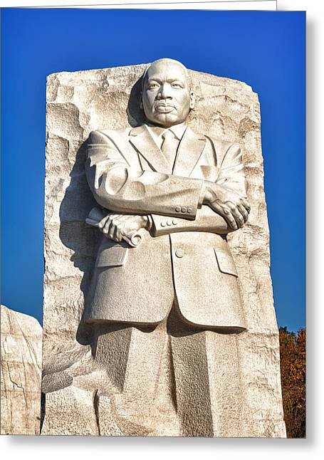 Black Russian Greeting Cards - MLK Memorial in Color Greeting Card by Val Black Russian Tourchin