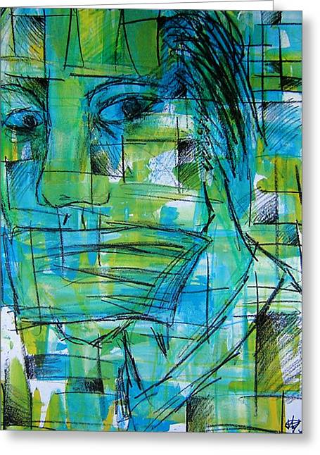 Speeches Mixed Media Greeting Cards - Mmmph Greeting Card by Jera Sky