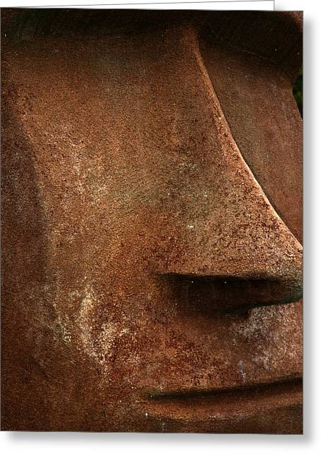 Moai Face Greeting Card by LeeAnn McLaneGoetz McLaneGoetzStudioLLCcom