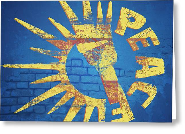 Moar Peace Greeting Card by Laura Brightwood
