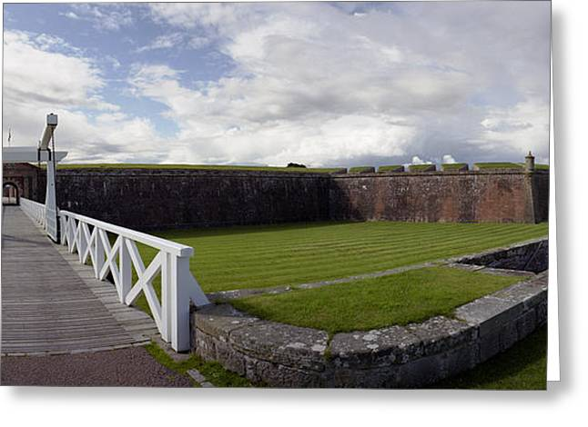Fort George Greeting Cards - Moat and Bridge -Ft George Greeting Card by Jan Faul