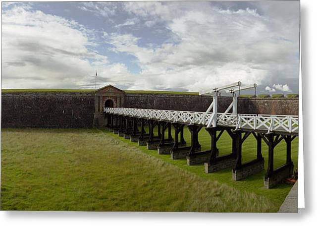 Fort George Greeting Cards - Moat Bridge Greeting Card by Jan Faul