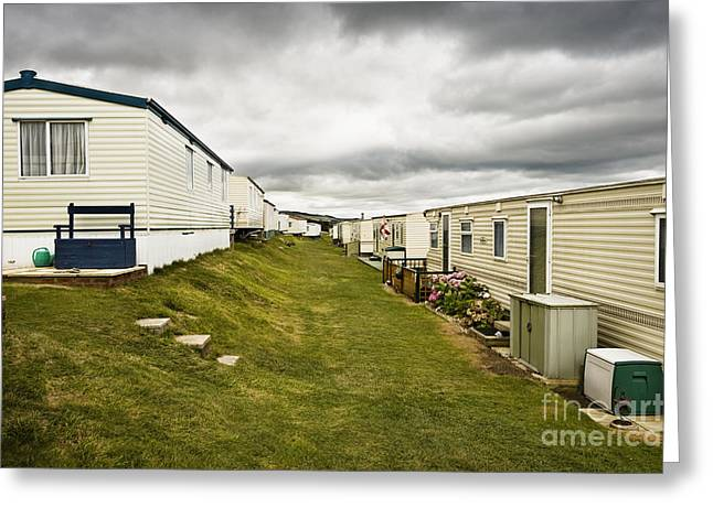 Burton Greeting Cards - Mobile Home Park, Dorset, England Greeting Card by John Boyes