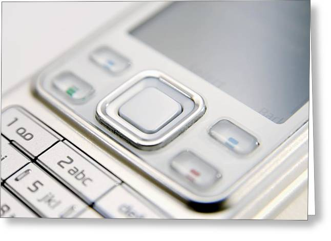 Cellphone Greeting Cards - Mobile Phone Greeting Card by Johnny Greig