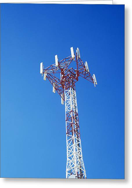 Mobile Phone Greeting Cards - Mobile Phone Mast Greeting Card by Carlos Dominguez