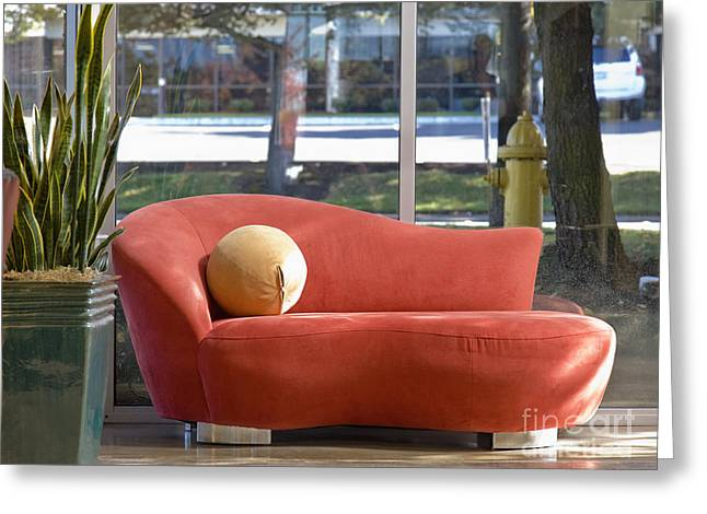 Chaise Greeting Cards - Mod Couch Greeting Card by Andersen Ross