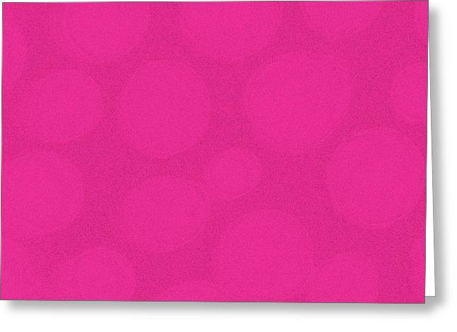 Mod Magenta Greeting Card by James Mancini Heath
