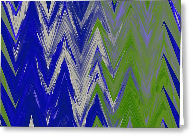 Moda Chevron Pattern III Greeting Card by Ricki Mountain