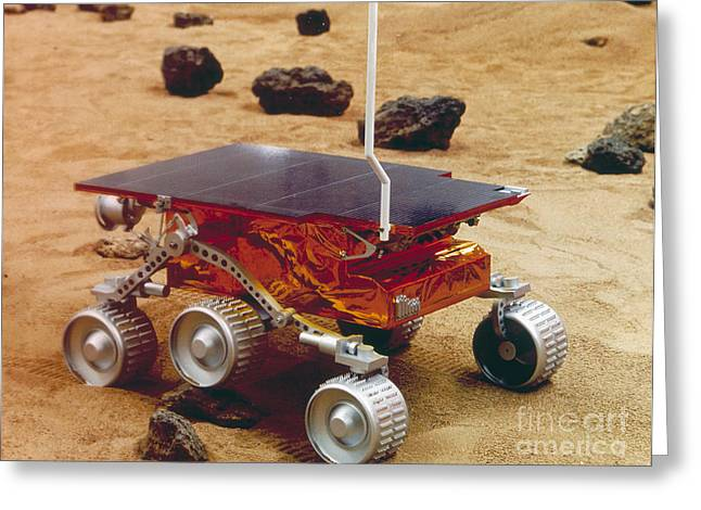 Pathfinder Greeting Cards - Model Of The Mars Pathfinder Rover Greeting Card by NASA / Science Source