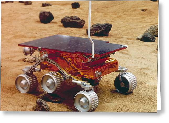 Pathfinder Greeting Cards - Model Of The Mars Pathfinder Rover Sojourner Greeting Card by Nasa